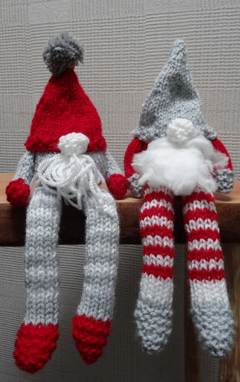 Christmas Gnomes Pattern.Knitted Christmas Gnomes Cool Denim